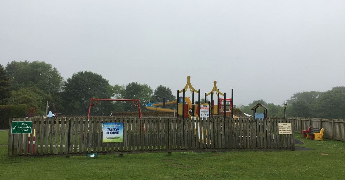 The playground at Trelawne Manor Holiday Park